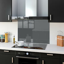 Shades Of Grey Gray Toughened Glass Kitchen Splashback Panels Any Size & Colour