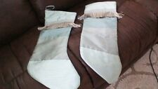 Rodeo Home Green Fringed Christmas Stockings