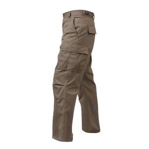 Rothco 7901 Men's Khaki BDU Pants - All Lengths