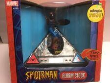 2004 Marvel Spider-Man Alarm Clock Talks & Revolves - New In Box (Dead Battery?)