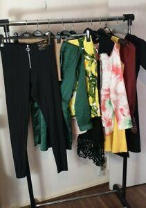 Womens Ladies Clothes Bundle Size 10 Leggings Skirt Dress Blouse Shirt Top PP3