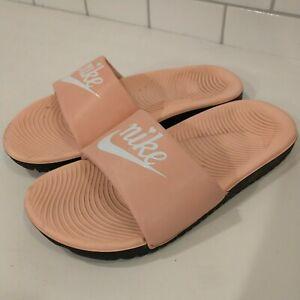 Nike Kids Girls Slide Sandal Flip Flop water summer pink salmon size 1