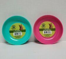 Geen brier kennel club 5'' cat/pet food dish/bowls set of two (anti slip bottom)