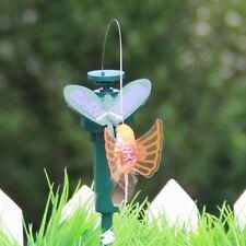 Solar Powered Flying Fluttering Hummingbird Flying Birds Random Garden Decor