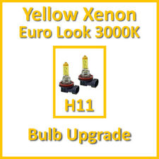 Warm White 3000K Yellow Xenon Headlight Bulbs Main Dip Beam or Fog H11 55W (x2)