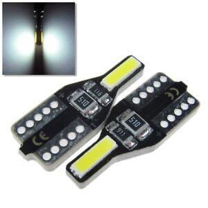 UK x2 T10 W5W 501 Car Side light Interior Sidelight 12v 7020 SMD LED