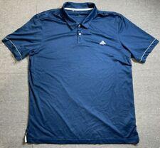 Adidas mens polo shirt Adult X Large Navy Blue short sleeve T Shirt Size XL
