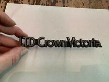 Vintage Ford LTD Crown Victoria Grille Emblem Badge Nameplate