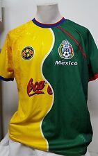 Men's Alexis Soccer Coca Cola Mexico Ca Shirt ~ Xl ~ Green / Yellow