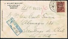2868 Mexico To Chile Registered Cover 1940 D.F. - Santiago