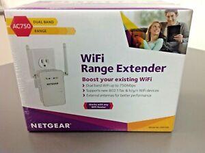 NETGEAR - AC750 Dual-Band Wi-Fi Range Extender - White, Model EX6100