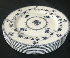 6 Luncheon Plates - Royal Doulton Yorktown Ribbed