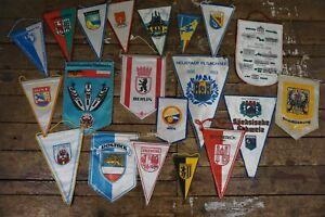 20 alte Wimpel DDR Fußball Städte Urlaub NVA