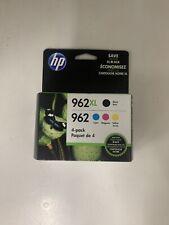 HP 962XL High Yield All Colors, Black/Cyan/Magenta/Yellow New 100% NO RETAIL BOX