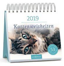 Katzenweisheiten 2019. Postkartenkalender