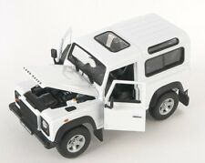 BLITZ VERSAND Land Rover Defender weiss / white 1:24 Welly Modell Auto NEU & OVP