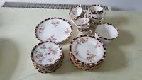 VINTAGE 1930s SELECTION VARIED LISTING WILLIAM LOWE COURT PLATES CHINA 4858