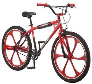 "Mongoose Grudge Mag BMX Freestyle Bike, Single Speed, 26"" Mag Wheel, Black"