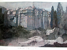 MONT ATHOS MONASTERE GREC  IVIRON PAUL JOUVE 1920 SC 1947 ILLUSTRATION ANCIENNE