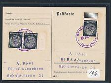78621) DR Ostgebiete 1939/40 Not-Stpl Befr.-Stpl Karte, Skotschau Oberschlesien