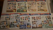 Celebrate the Century Complete Mint 10 Sheet x 9 1900 to 1990 Stamps (NO 1970s)