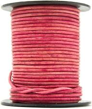 Xsotica® Pink Natural Dye Round Leather Cord 1mm 10 meters (11 yards)