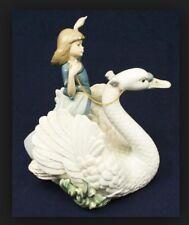 """Lladro 5705 """"Swan And Princess"""""""