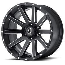 KMC XD818  HEIST 17x9 +30 Satin Black Milled Alloy Mag Wheel dmax Ranger Triton