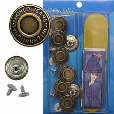 17 mm No-Sew Replacement Jean Tack Buttons w/Tool (BCD2T8)  8 CT.
