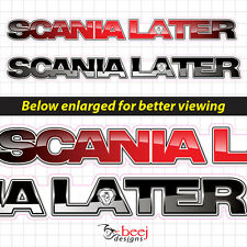 Scania Later - 300 x32mm - Scania Truck sticker decal