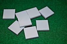 (8) LIGHT GRAY 2X2 Smooth Finishing Tile Brick Bricks  ~ Lego  ~ NEW