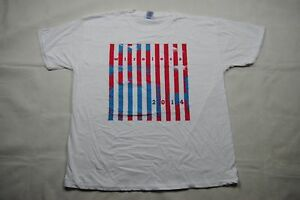 WIRELESS FESTIVAL 2014 STRIPES T SHIRT NEW OFFICIAL KANYE WEST BRUNO MARS J.COLE