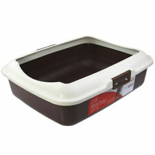 Portable Cat Toilet Litter Box Tray With Rim Paws N Claws