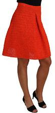DOLCE & GABBANA Skirt Orange Knitted Raffia A-Line Rayon IT40 / US6 /S RRP $850