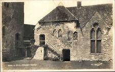 Stokesay Castle Shropshire England s/w AK ~1950/60 Steps to solar Post Card
