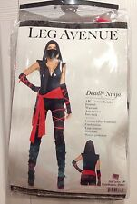 Sexy Black Deadly Stealth Ninja Bodysuit Halloween Costume Size Small
