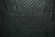 Black Animal Print #01 Pleather Faux Leather Poly Lycra Spandex Fabric BTY