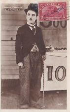 * CHARLIE CHAPLIN * SCARCE AUTHENTIC HAND SIGNED AUTOGRAPH PHOTO CARD