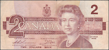 CANADA TWO DOLLAR - 1986 YOUNG QUEEN  - CANADIAN PAPER MONEY BANK NOTE