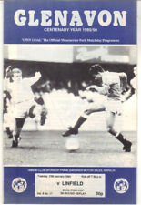 1989/90 Glenavon v Linfield - Irish Cup - 23rd Jan - Vol 8 No 17