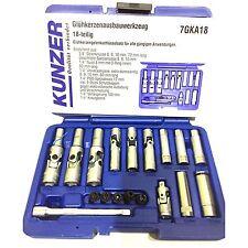 Kunzer Glühkerzen Ausbau Werkzeug 18-teilig Set , Werkzeugkasten, Glühkerze, WOW