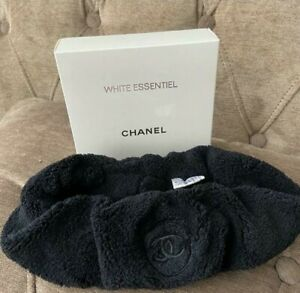 CHANEL Essentiel  Headband BLACK CC Terry Cloth Velvet GIFT