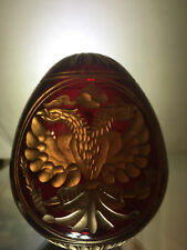 Handmade Glass Egg the coat of arms of Russia