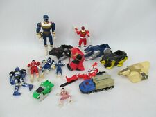 Lot of Vintage Power Rangers MMPR Action Figures and Zords
