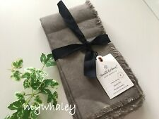 NWT Hearth & Hand with Magnolia 4pk Linen & Cotton TABLE NAPKINS Gray stone NEW!