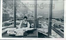 1976 View of Snowy Juneau From State Court Building Office Alaska Press Photo