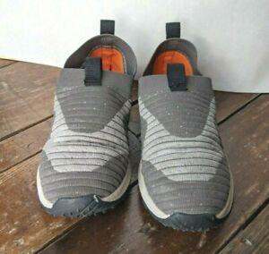 Merrell Little Kids Size 1 Range Slip-On Sneakers Shoes Stone Gray Orange