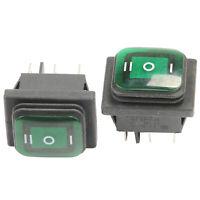 2PCS Latching 6 Pin Car Boat Light Rocker Toggle Switch On/Off/On DC 12V