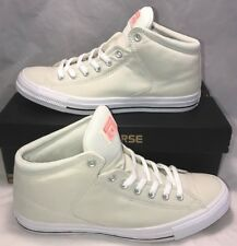 Converse Mens Size 10.5 CTAS Mid High Street White Egret Casual Shoes Sneakers
