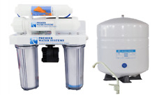4-Stage 100 GPD RO Reverse Osmosis Drinking Water Filter System Permeate Pump